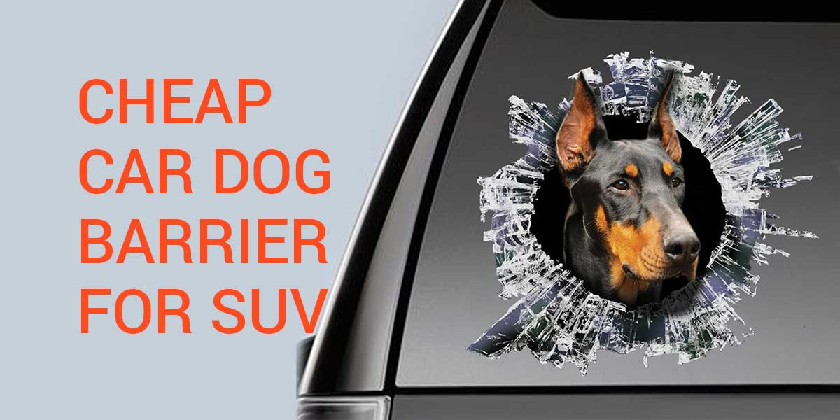 barreira do cão do carro barato SUV
