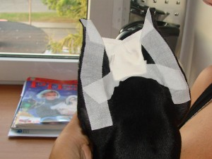 Light ear posting method - tape crown